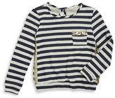 Soprano Girls 7-16 Striped Sequin Sweater
