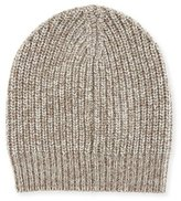 Brunello Cucinelli Men's Cashmere Knit Beanie Hat, Oatmeal