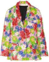 Woven fil coupé jacket