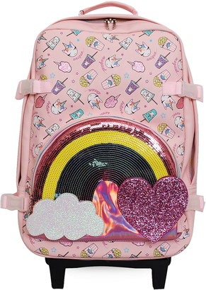 Junk Food Clothing OMG Accessories OMG Rainbow & Unicorn 19-Inch Rolling Suitcase