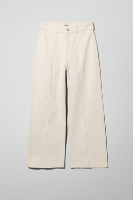 Weekday Cosmo White Denim Trousers - White