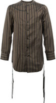Song For The Mute striped tassel detail shirt - men - Cupro - 46