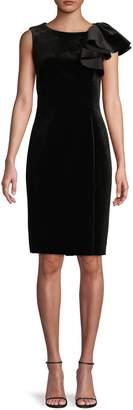 Eliza J Ruffled Sheath Dress