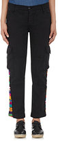NSF Women's Embroidered Cargo Pants-BLACK