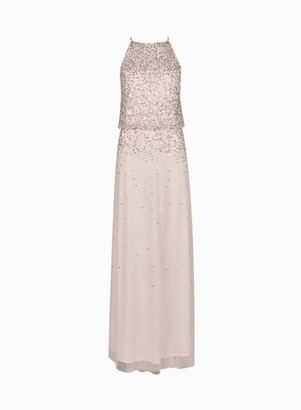 Dorothy Perkins Womens **Showcase Petite Blush 'Ava' Maxi Dress