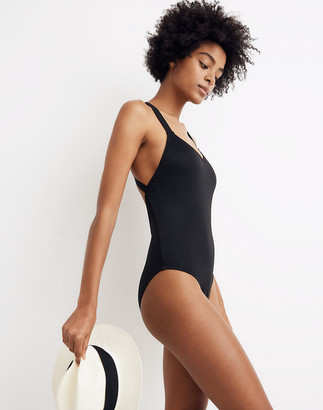 Madewell Second Wave Crisscross One-Piece Swimsuit