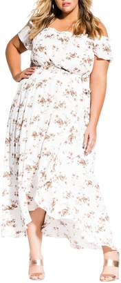 City Chic Garden Art Maxi Dress (Plus Size)