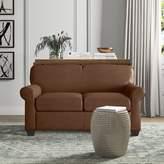 Wayfair Custom Upholstery Jennifer Leather Loveseat Body Fabric: Durango Acorn
