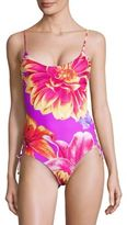 6 Shore Road Tropical Print One-Piece Swimsuit