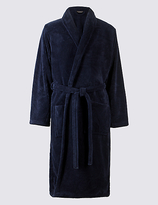 M&S Collection Shawl Neck Fleece Dressing Gown