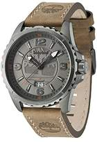 Timberland Walden Men's Quartz Watch with Grey Dial Analogue Display and Brown Leather Strap 14531JSU/13