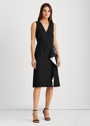 Ralph Lauren Crepe Surplice Dress