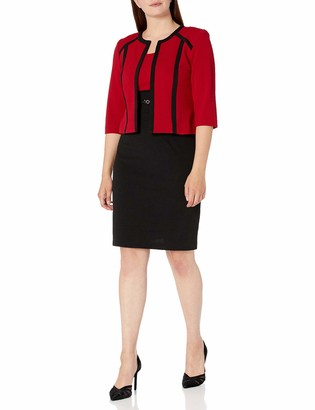 Sandra Darren Women's 2 PC Bullet Knit Jacket Sheath Dress