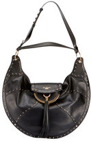 Balmain Glove Patch Leather Shoulder Bag