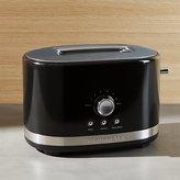 Crate & Barrel KitchenAid ® Onyx Black 2-Slice Toaster