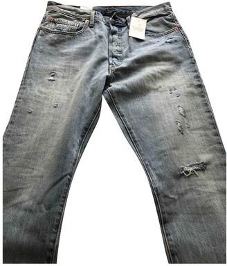 Levi's 501 Blue Cotton Jeans