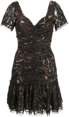 Jonathan Simkhai Gathered Lace Mini Dress