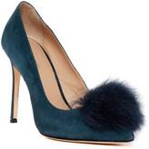 Pour La Victoire Camilla Genuine Fox Fur Pump