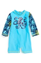 Hatley Infant Boy's Deep Sea Octopus One-Piece Rashguard Swimsuit