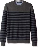 Nautica Men's Long Sleeve Cotton Engineered Stripe Crewneck Sweater