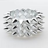 Abbey Dawn Silver-Tone Spike Flex Bracelet