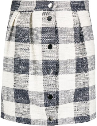 Roseanna Elio Tradition plaid-jacquard skirt