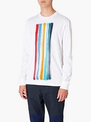 Paul Smith Paint Brush Graphic Long Sleeve T-Shirt, White
