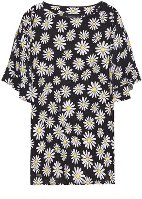 Boutique Moschino Floral-print Crepe Top