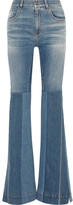 Roberto Cavalli Patchwork High-rise Flared Jeans - Blue
