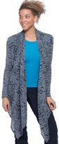 Soybu Women's Aubrey Burnout Camo Wrap Cardigan