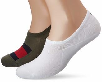 Tommy Hilfiger Men's Th Footie 2p Flag Ankle Socks