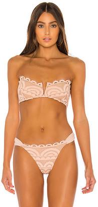 PQ V Lace Bandeau Bikini Top