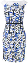 Talbot Runhof lace appliqué shift dress - women - Polyester/Spandex/Elastane - 34