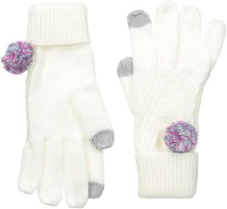 Keds Women's Knit Gloves with Pom