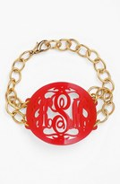 Moon and Lola Women's 'Annabel' Large Oval Personalized Monogram Bracelet (Nordstrom Exclusive)