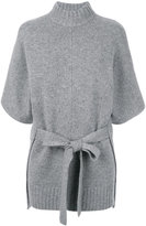 Joseph roll-neck belted knit
