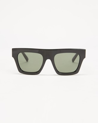 Le Specs Black Oversized - Subdimension - Size One Size at The Iconic