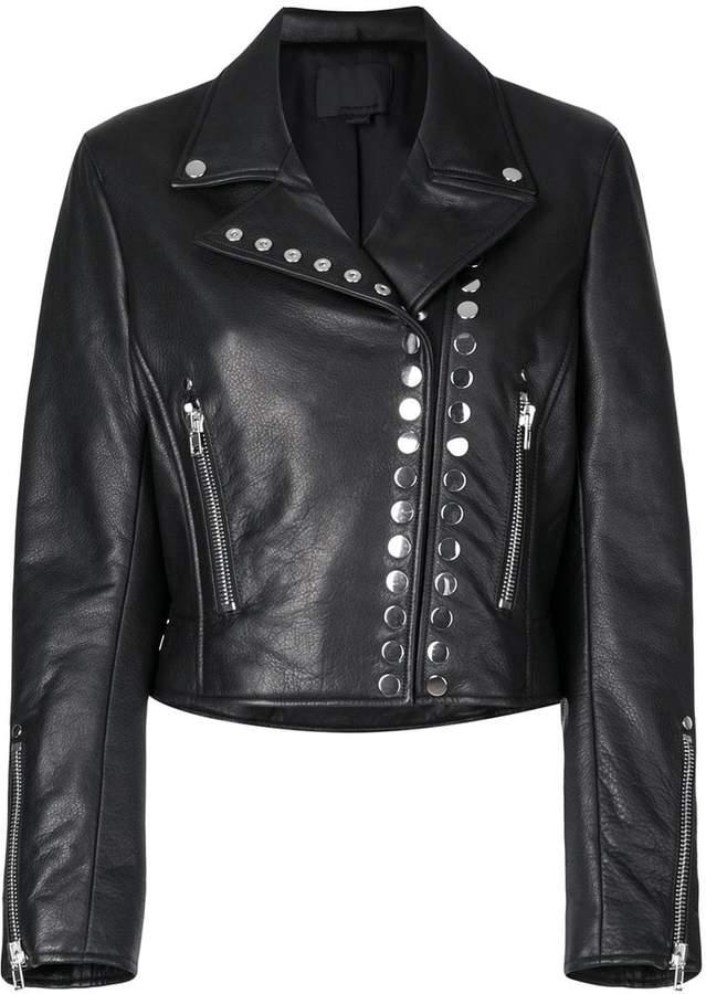 Alexander Wang cropped biker jacket