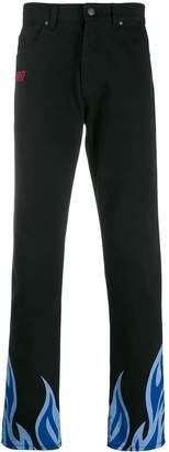 MSGM flame print trousers
