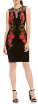 Mystic Floral Embroidered Sheath Dress