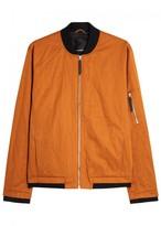 J.lindeberg Bounce Orange Twill Bomber Jacket
