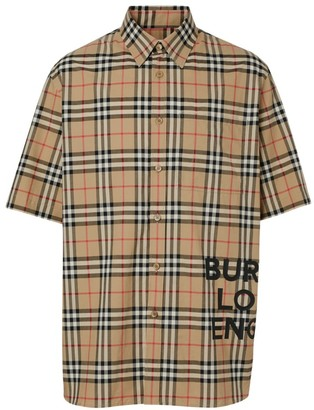 Burberry Sandor Short Sleeve Vintage Scale Check Sport Shirt