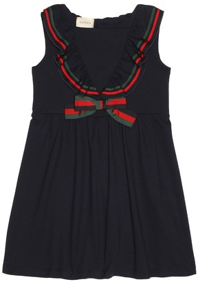Gucci Kids Cotton pique dress
