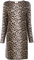 Allude animal print knit dress