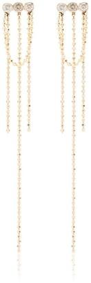 Xiao Wang 14kt yellow gold Elements diamond chain-drop earrings