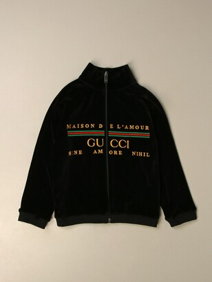 Gucci Sweatshirt With Zip And Vintage Logo
