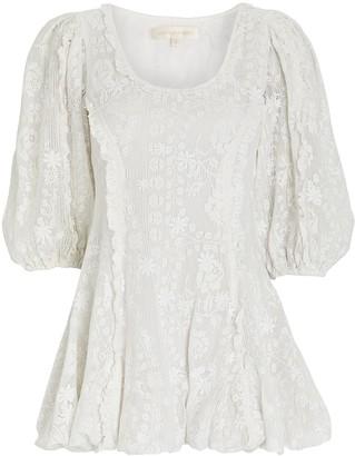 LoveShackFancy Hampton Puff Sleeve MIni Dress