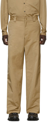 Valentino Beige Straight-Fit Trousers