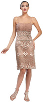 Sue Wong Embellished Square Neck Sheath Dress N5142