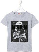 MSGM astronaut and logo print T-shirt